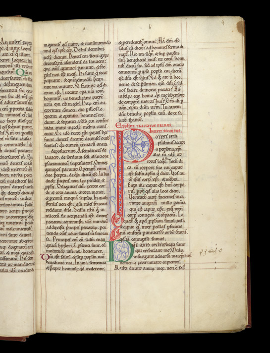 A Decorated Initial, In Augustine, Commentary On The Psalms